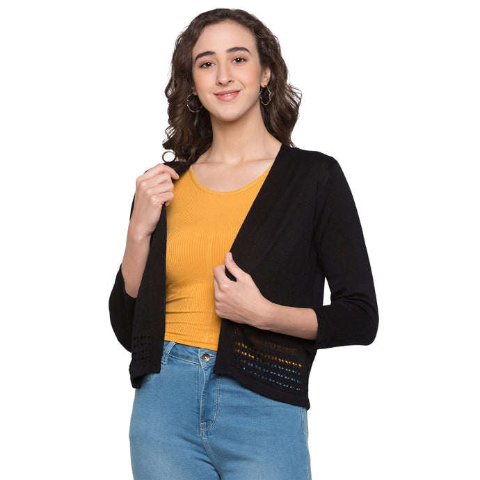 Globus Black Solid Shrug1