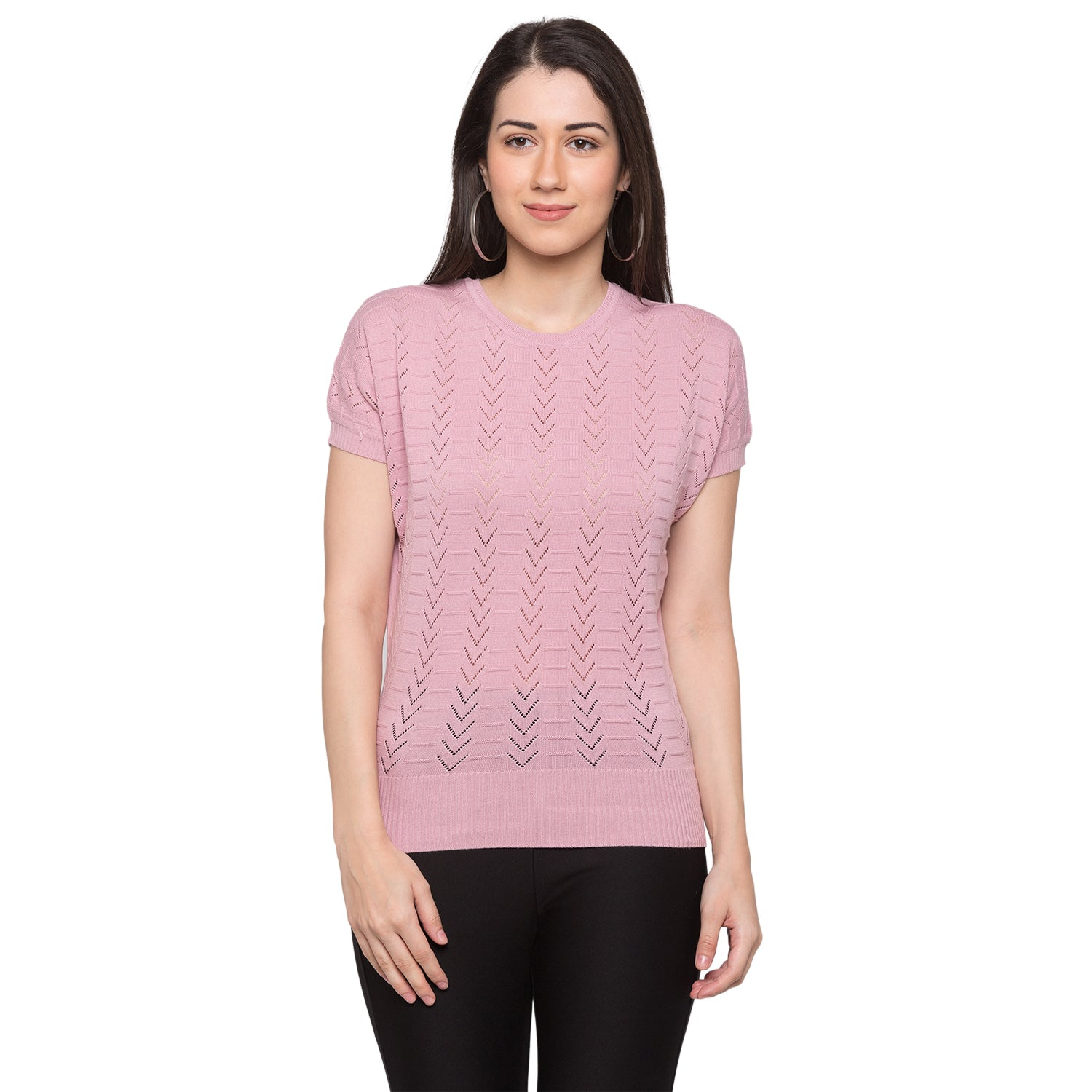 Globus Pink Knitted Top1