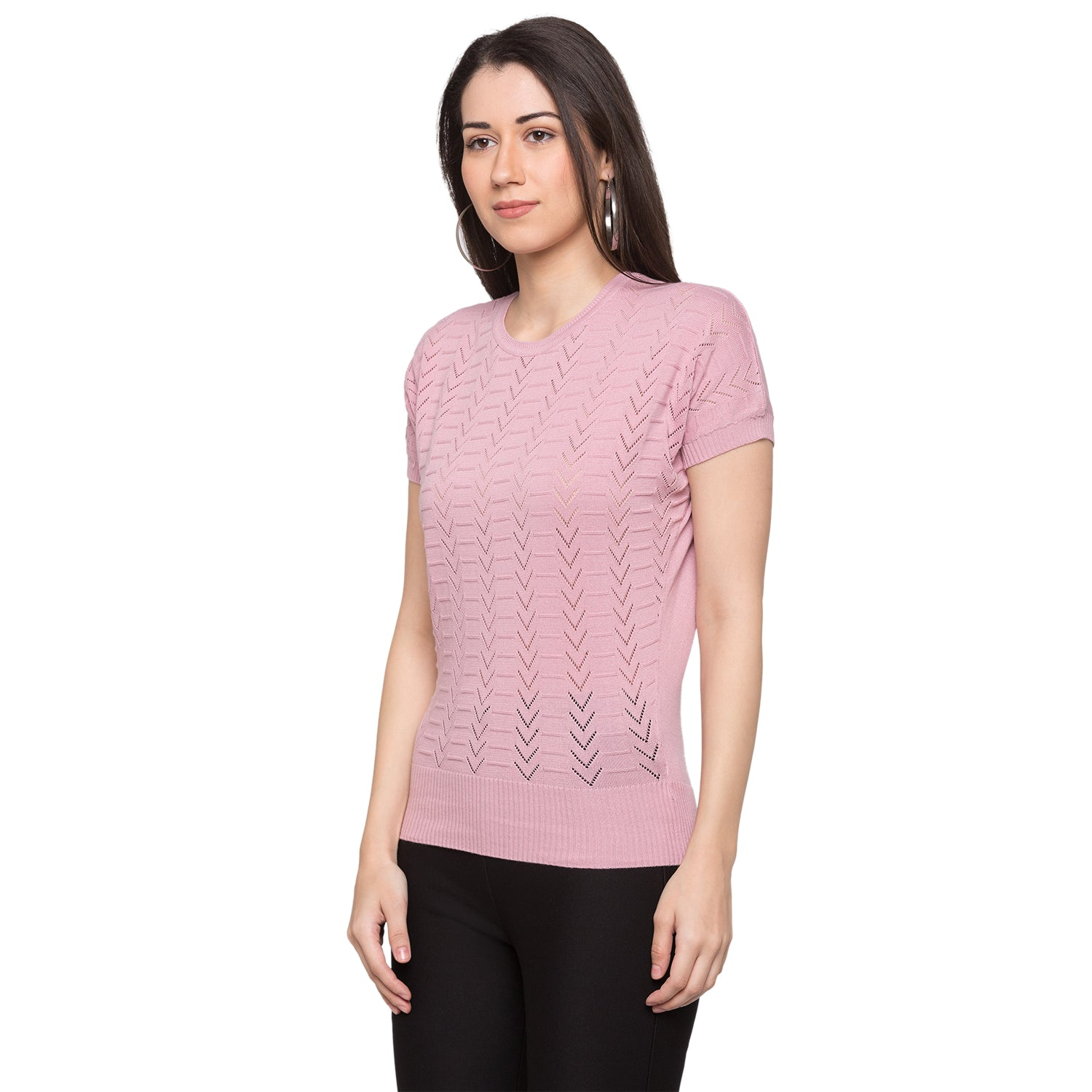 Globus Pink Knitted Top2