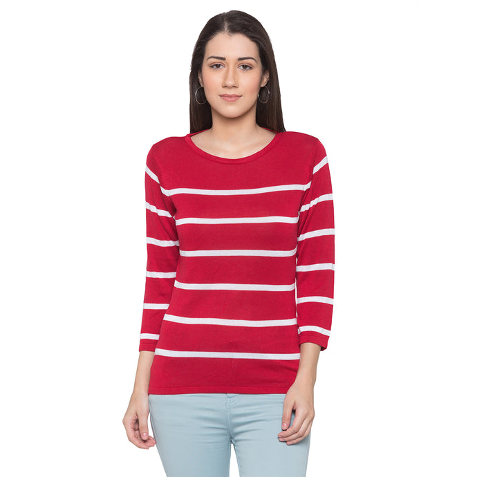 Globus Red Striped Top-1