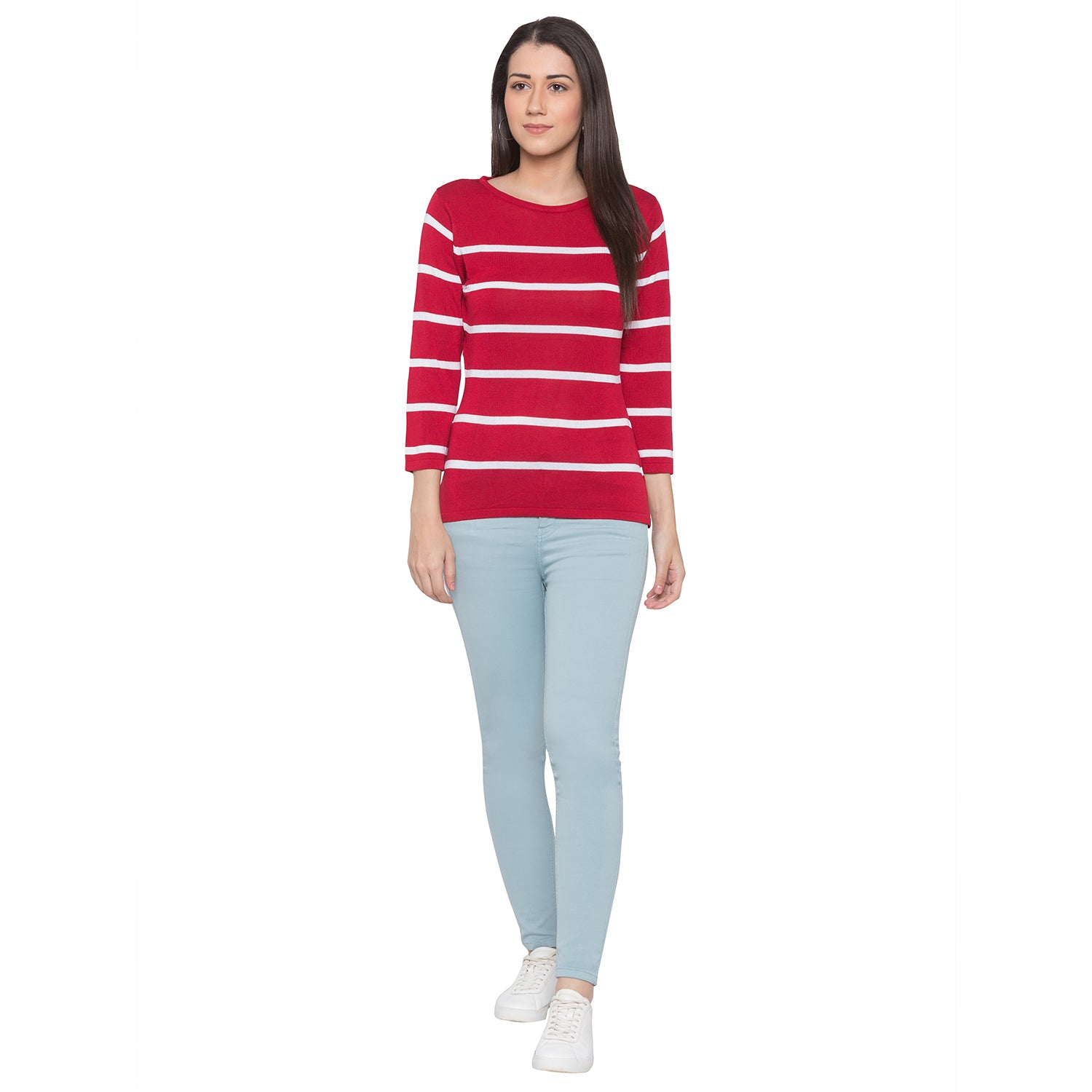 Globus Red Striped Top-4