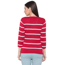 Load image into Gallery viewer, Globus Red Striped Top-3