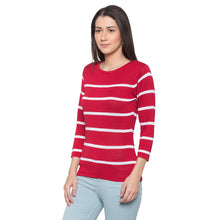 Load image into Gallery viewer, Globus Red Striped Top-2