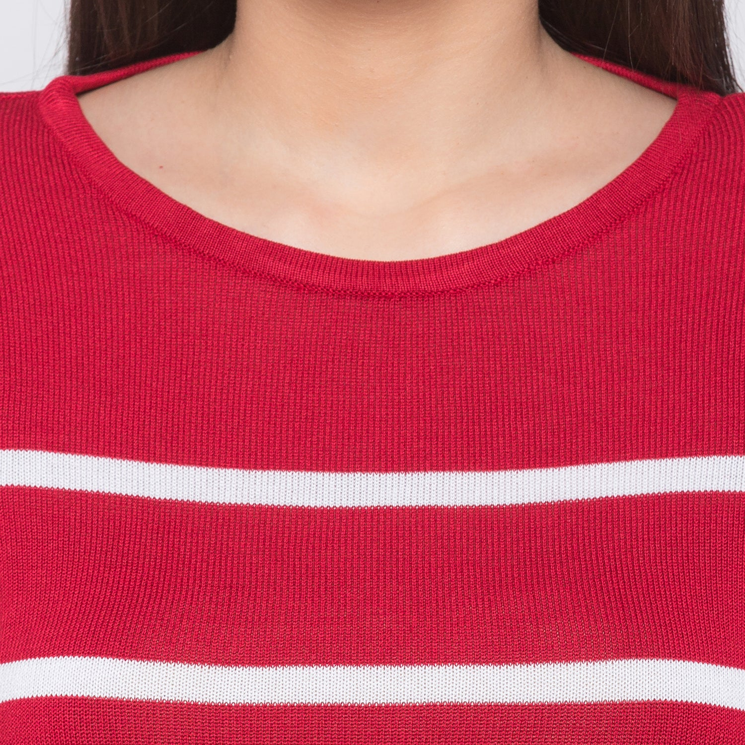 Globus Red Striped Top-5