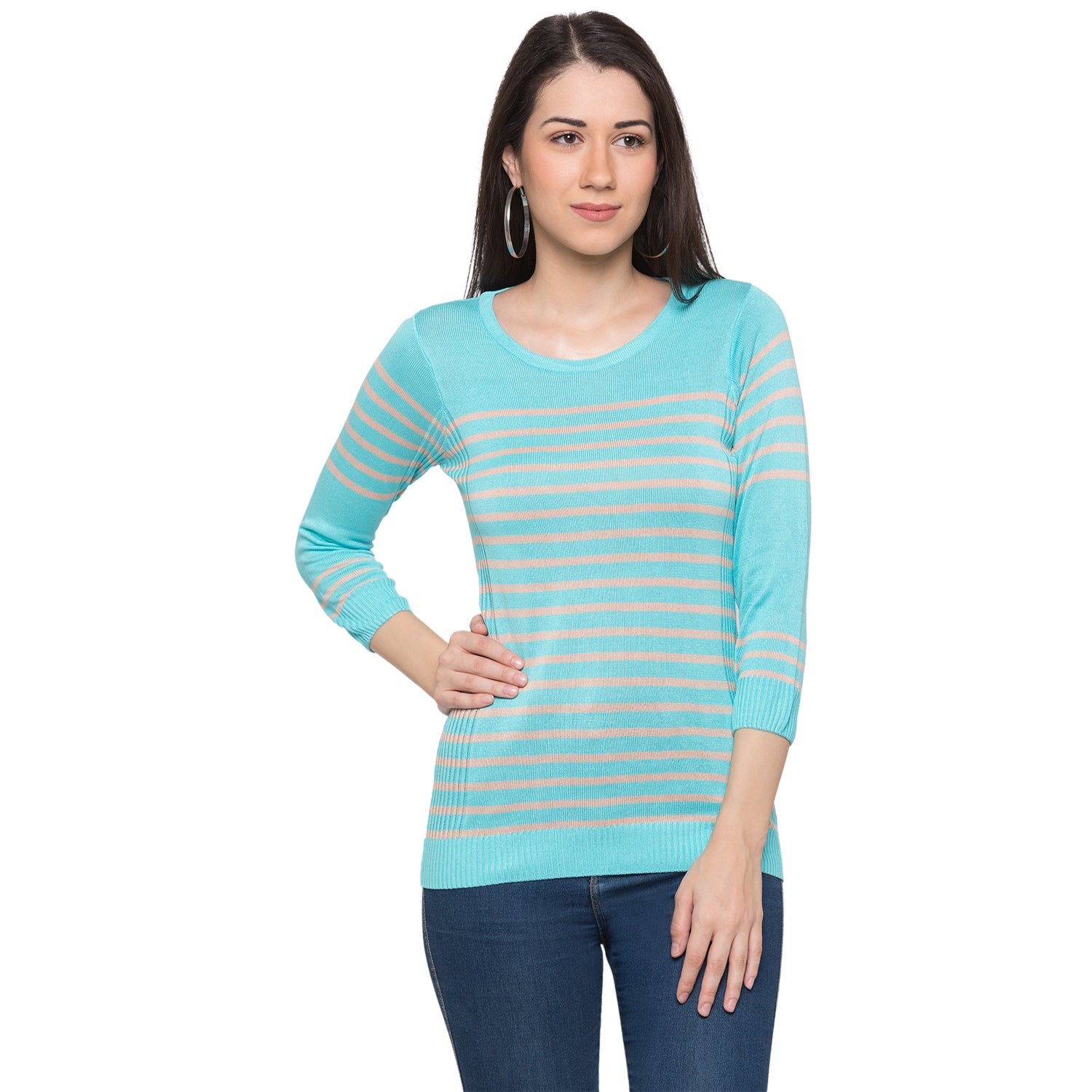 Globus Blue Striped Top1