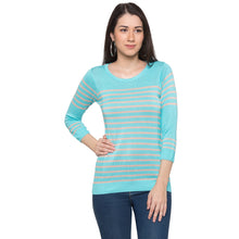 Load image into Gallery viewer, Globus Blue Striped Top1