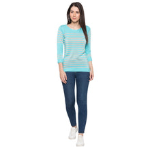 Load image into Gallery viewer, Globus Blue Striped Top4
