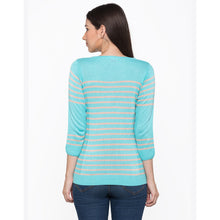 Load image into Gallery viewer, Globus Blue Striped Top3