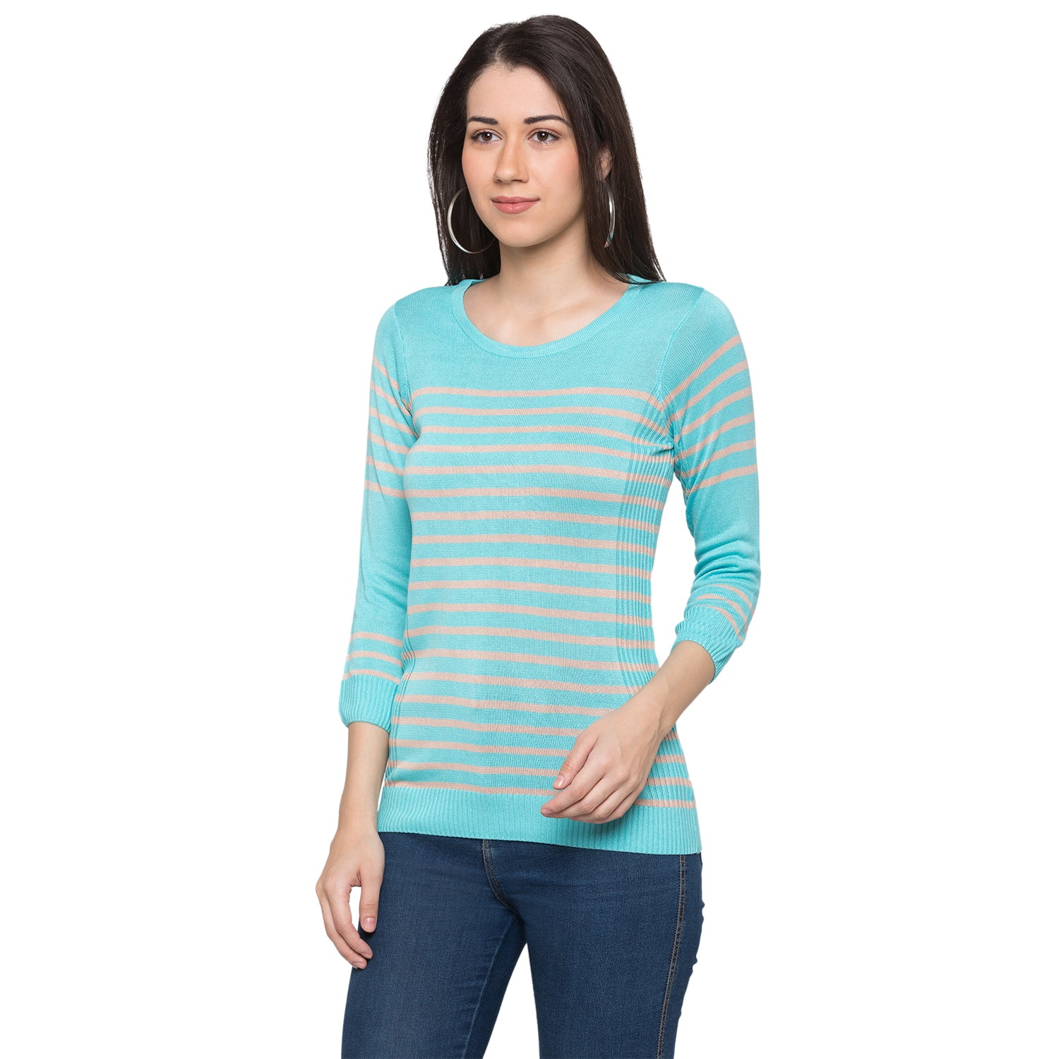 Globus Blue Striped Top2