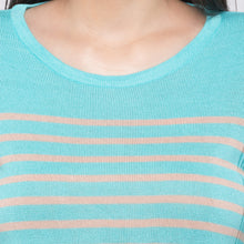 Load image into Gallery viewer, Globus Blue Striped Top5