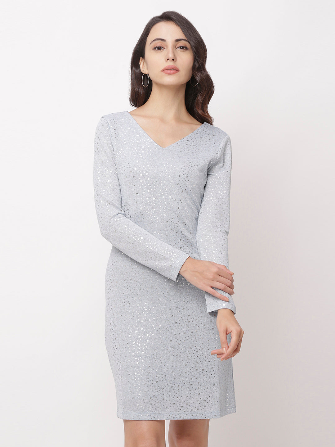 Globus Grey Embellished Casual Dress-1