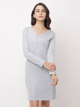 Load image into Gallery viewer, Globus Grey Embellished Casual Dress-1
