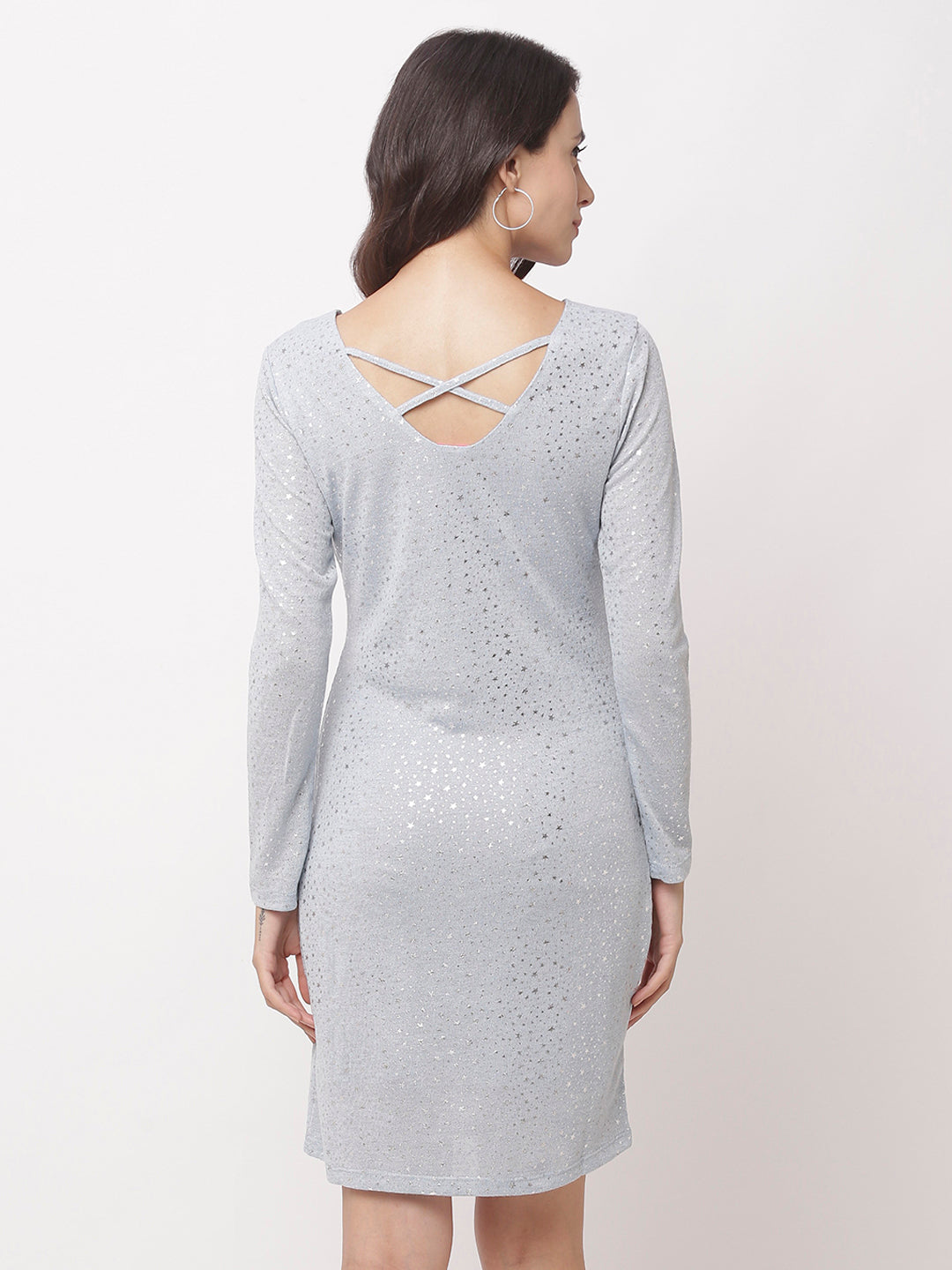 Globus Grey Embellished Casual Dress-3