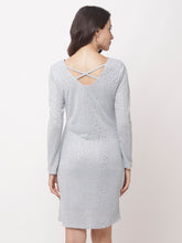 Load image into Gallery viewer, Globus Grey Embellished Casual Dress-3
