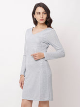 Load image into Gallery viewer, Globus Grey Embellished Casual Dress-4