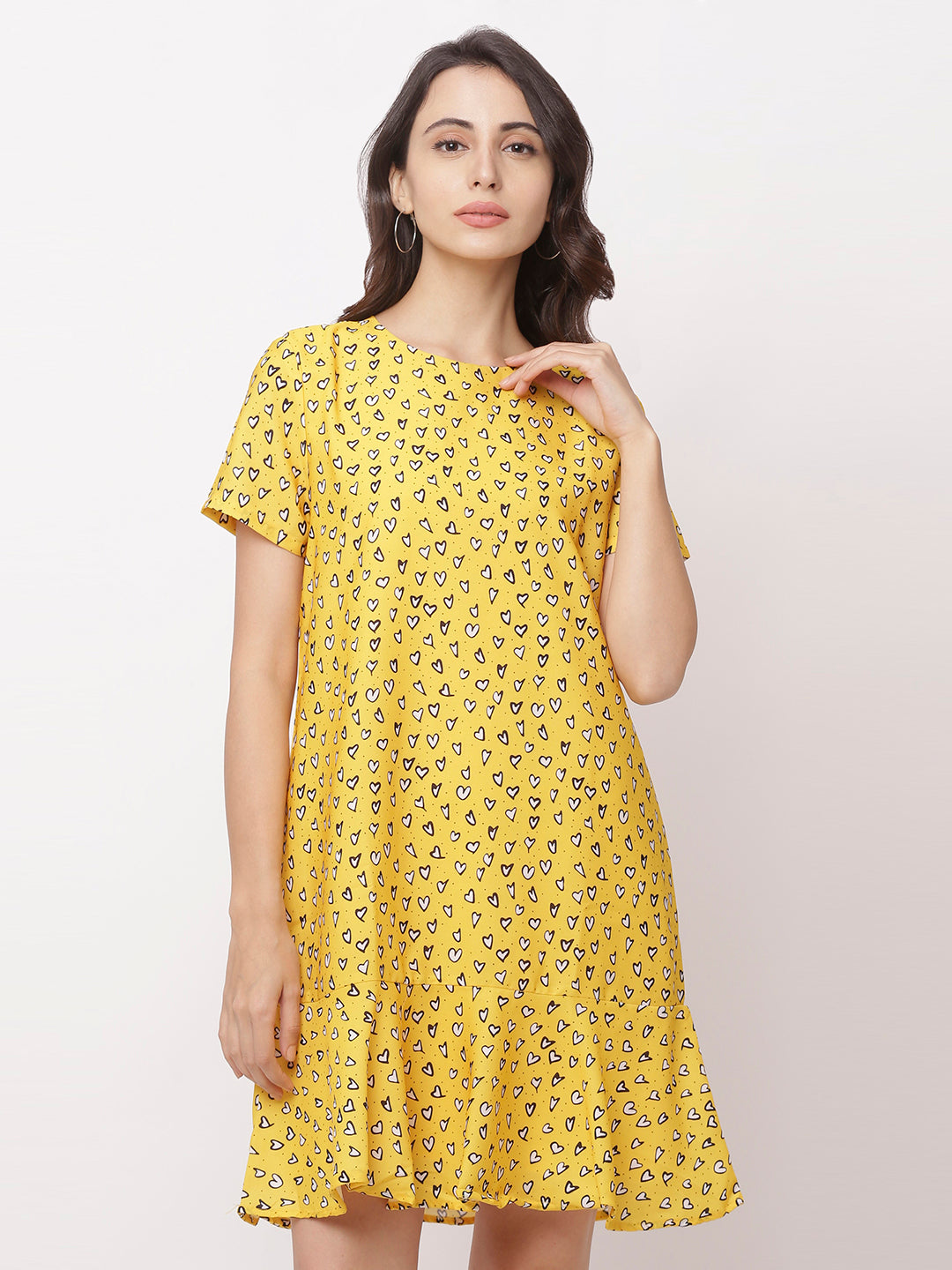 Globus Yellow Bohemian Casual Dress-1