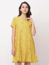 Load image into Gallery viewer, Globus Yellow Bohemian Casual Dress-1