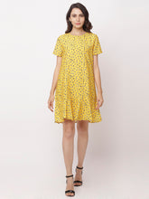 Load image into Gallery viewer, Globus Yellow Bohemian Casual Dress-5