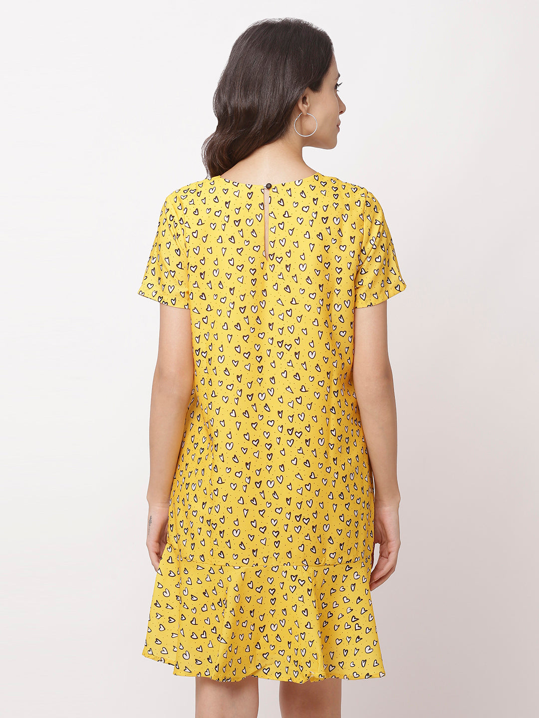 Globus Yellow Bohemian Casual Dress-3