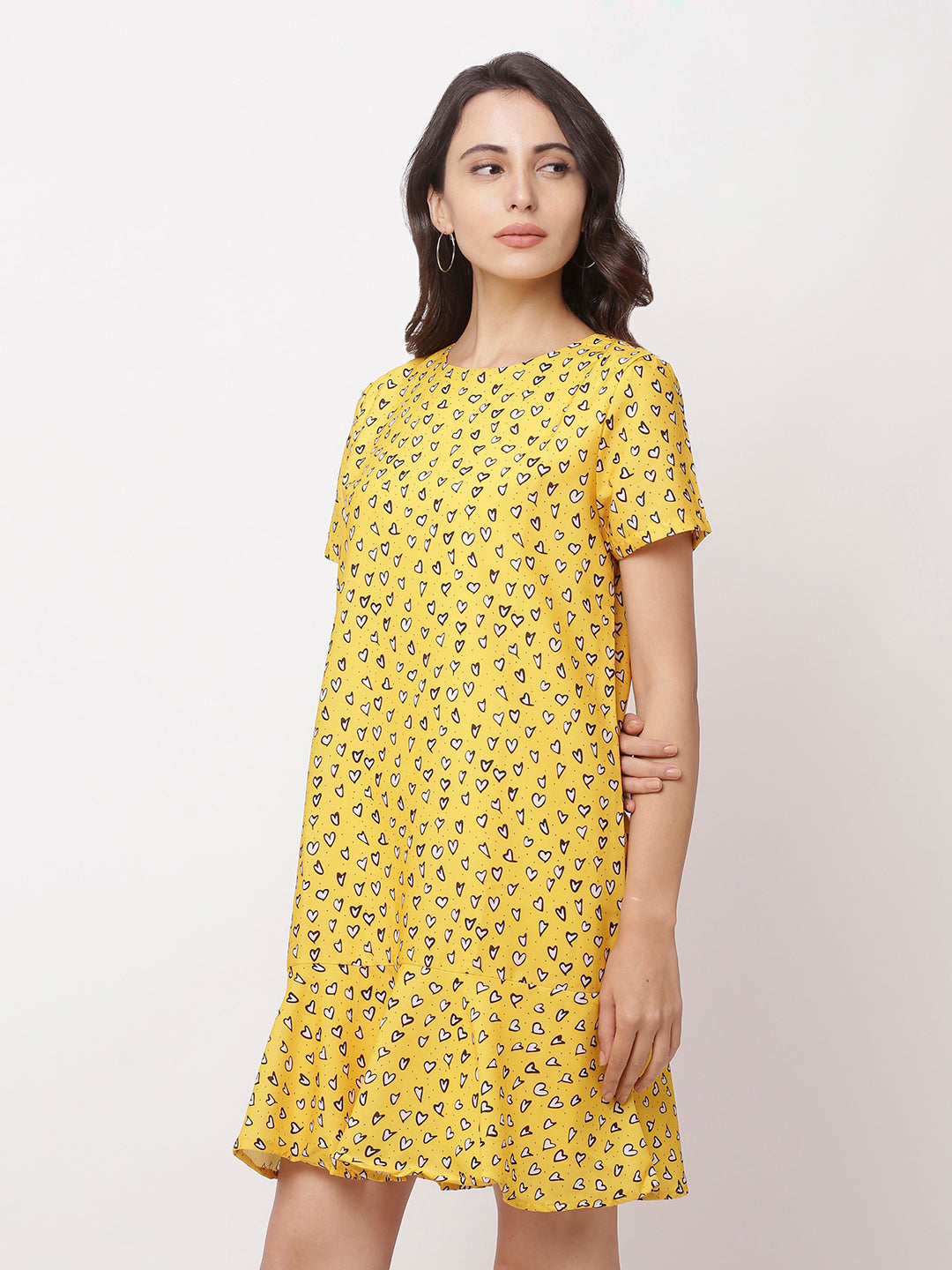 Globus Yellow Bohemian Casual Dress-2
