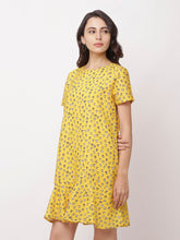 Load image into Gallery viewer, Globus Yellow Bohemian Casual Dress-2