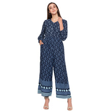 Load image into Gallery viewer, Globus Blue Printed Jumpsuit-1