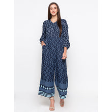 Load image into Gallery viewer, Globus Blue Printed Jumpsuit-4