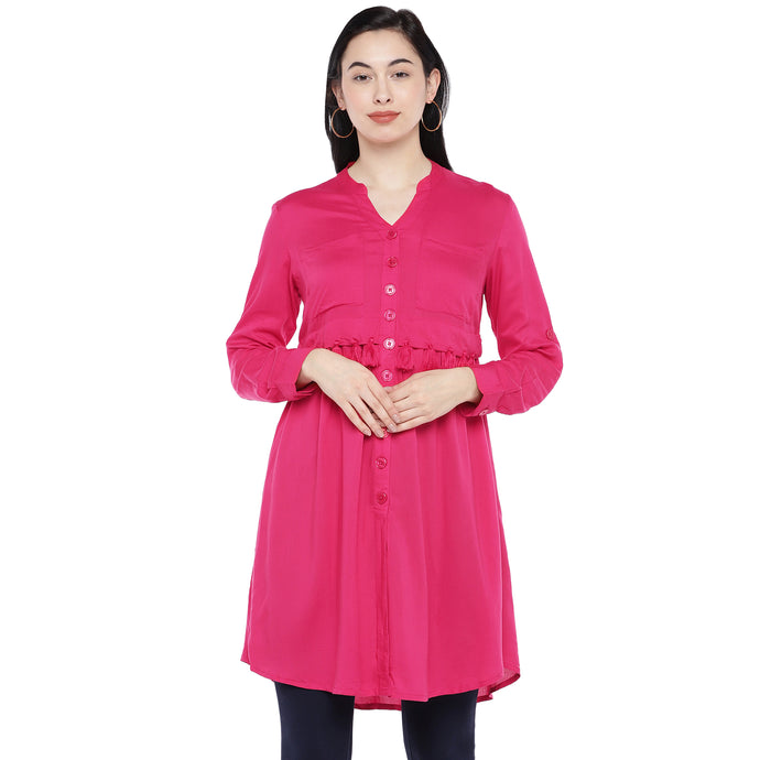 Pink Solid Tunic-1