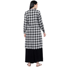 Load image into Gallery viewer, White & Black Checked Tunic-3