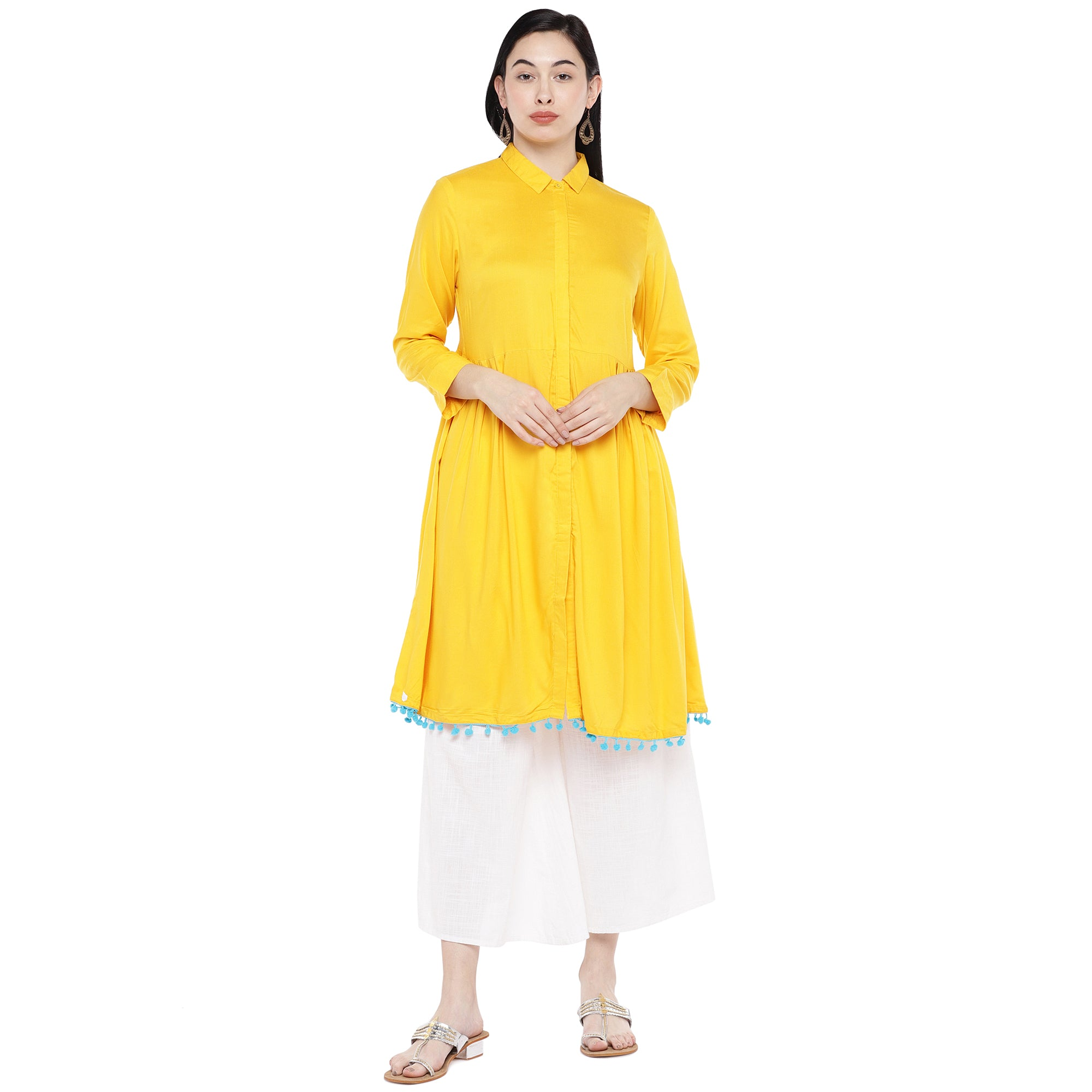 Yellow Solid Tunic-1