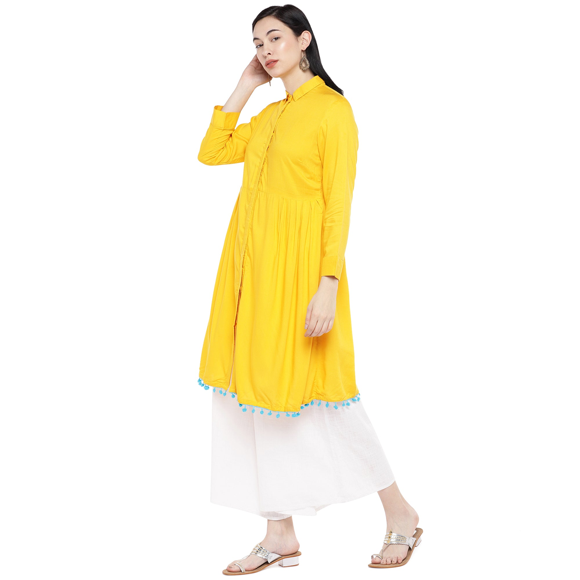 Yellow Solid Tunic-2