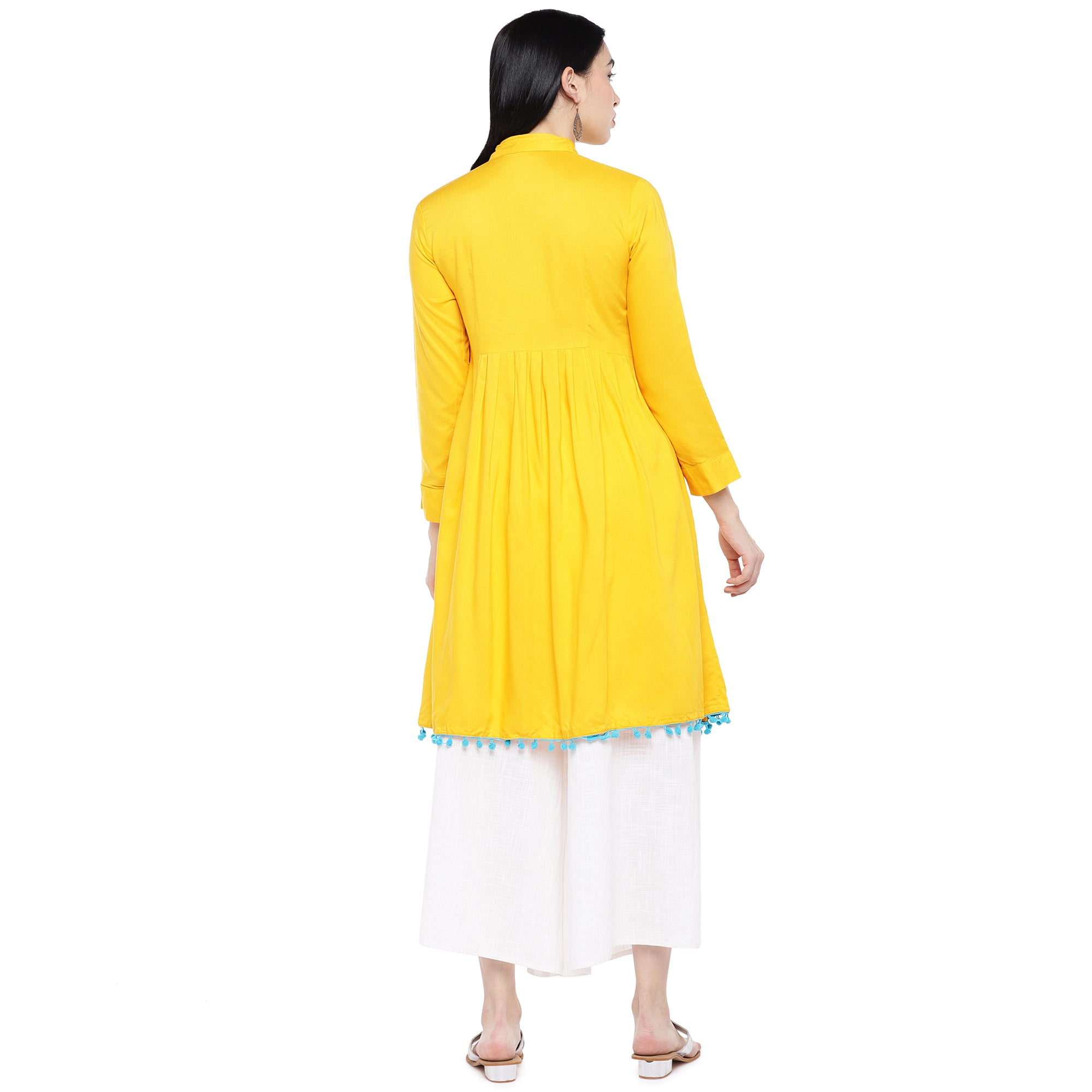 Yellow Solid Tunic-3