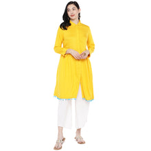 Load image into Gallery viewer, Yellow Solid Tunic-4