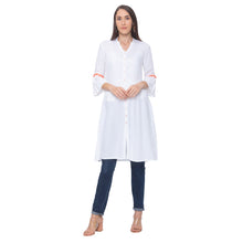 Load image into Gallery viewer, Globus White Solid Kurta-1