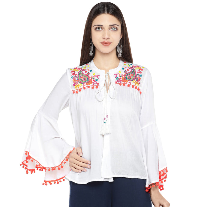 White Printed Tunic-1