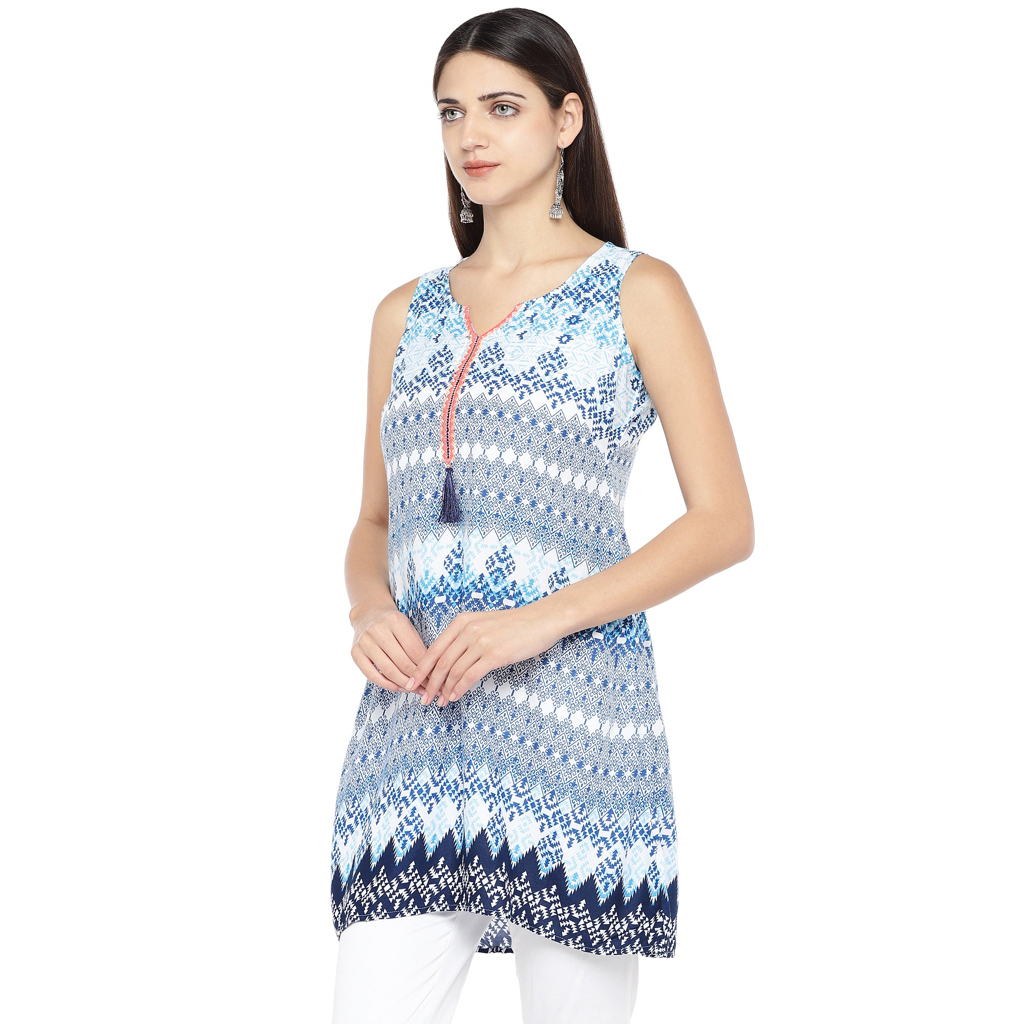 Blue Printed Tunic-2