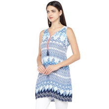 Load image into Gallery viewer, Blue Printed Tunic-2
