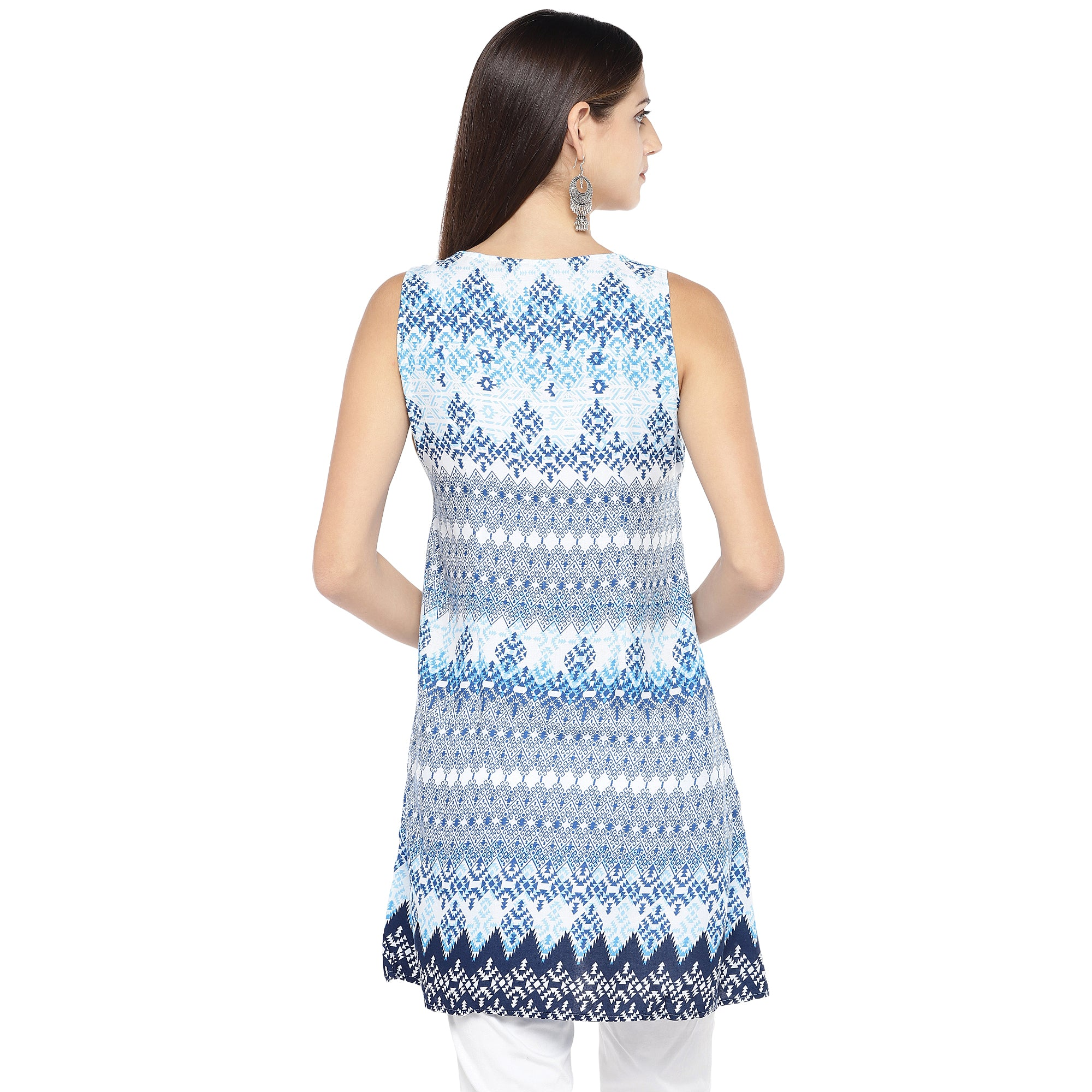 Blue Printed Tunic-3