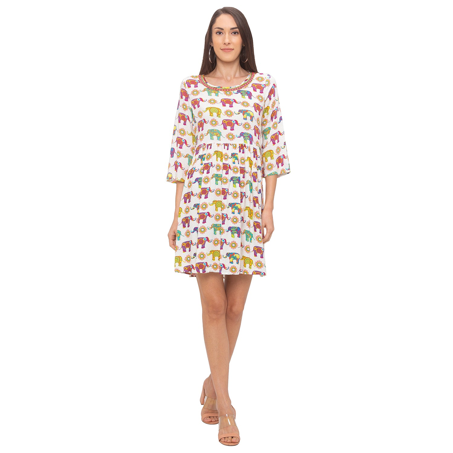 Globus Multi Printed Dress-4