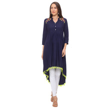 Load image into Gallery viewer, Globus Navy Blue Embroidered Tunic-1
