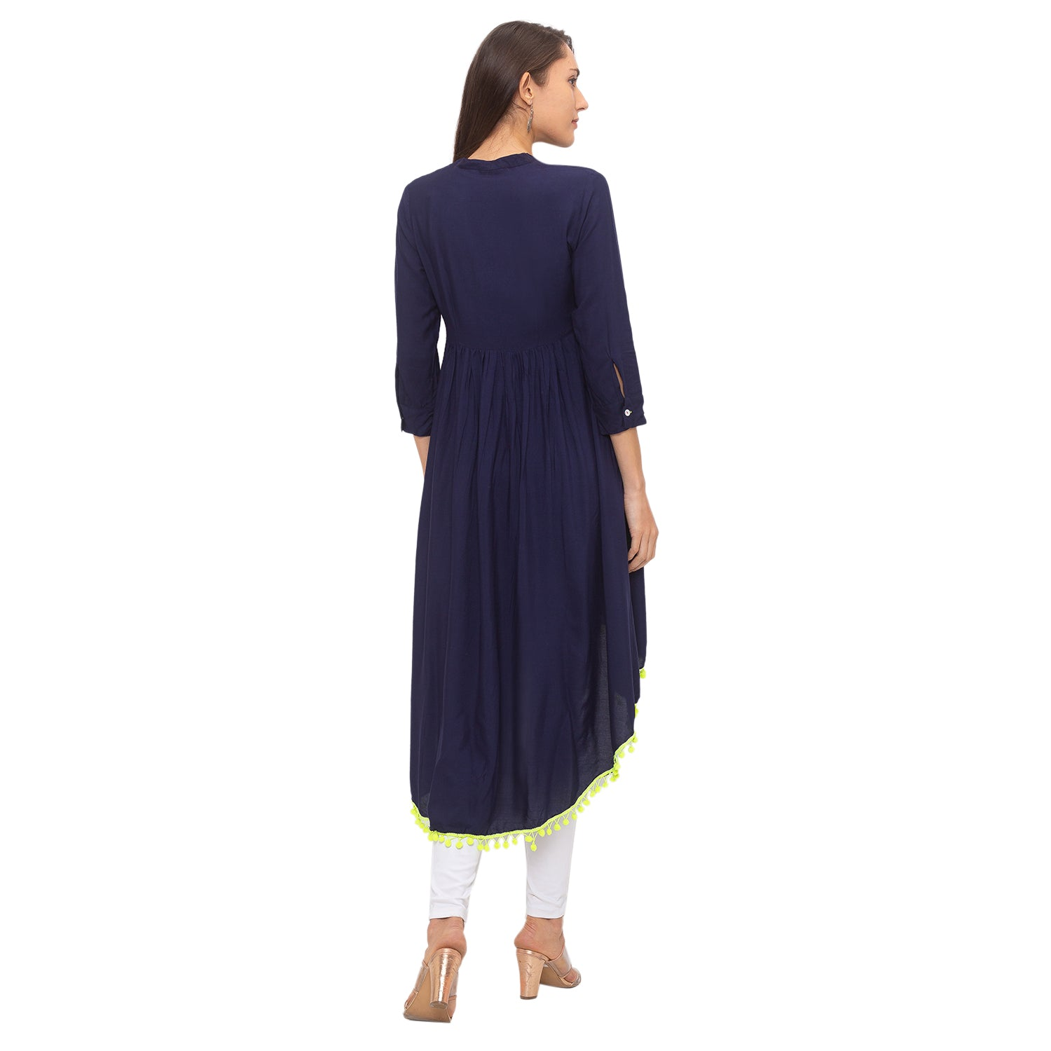 Globus Navy Blue Embroidered Tunic-3