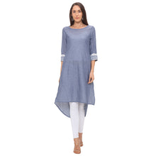 Load image into Gallery viewer, Globus Grey Solid Kurta-1