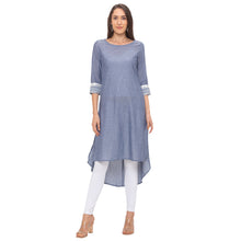 Load image into Gallery viewer, Globus Grey Solid Kurta-4