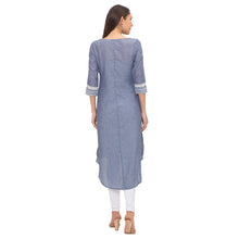 Load image into Gallery viewer, Globus Grey Solid Kurta-3