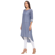 Load image into Gallery viewer, Globus Grey Solid Kurta-2