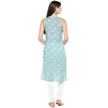 Load image into Gallery viewer, Blue & White Printed Straight Kurta-3