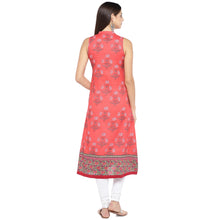 Load image into Gallery viewer, Peach-Coloured Printed A-Line Kurta-3