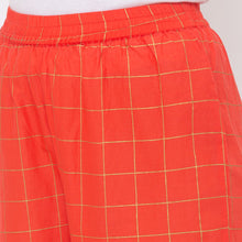 Load image into Gallery viewer, Globus Peach Checked Pants-5