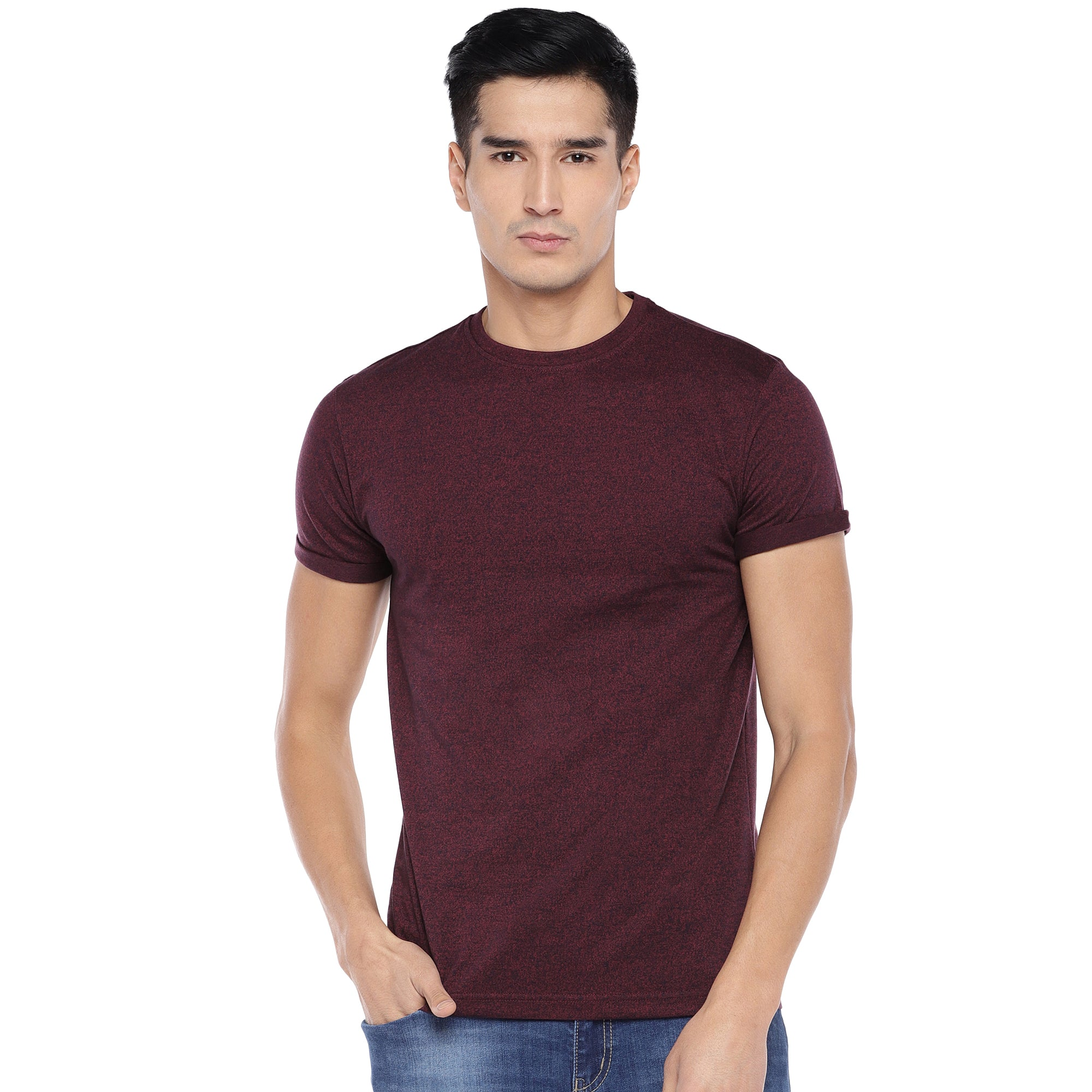 Red Solid T-Shirt-1