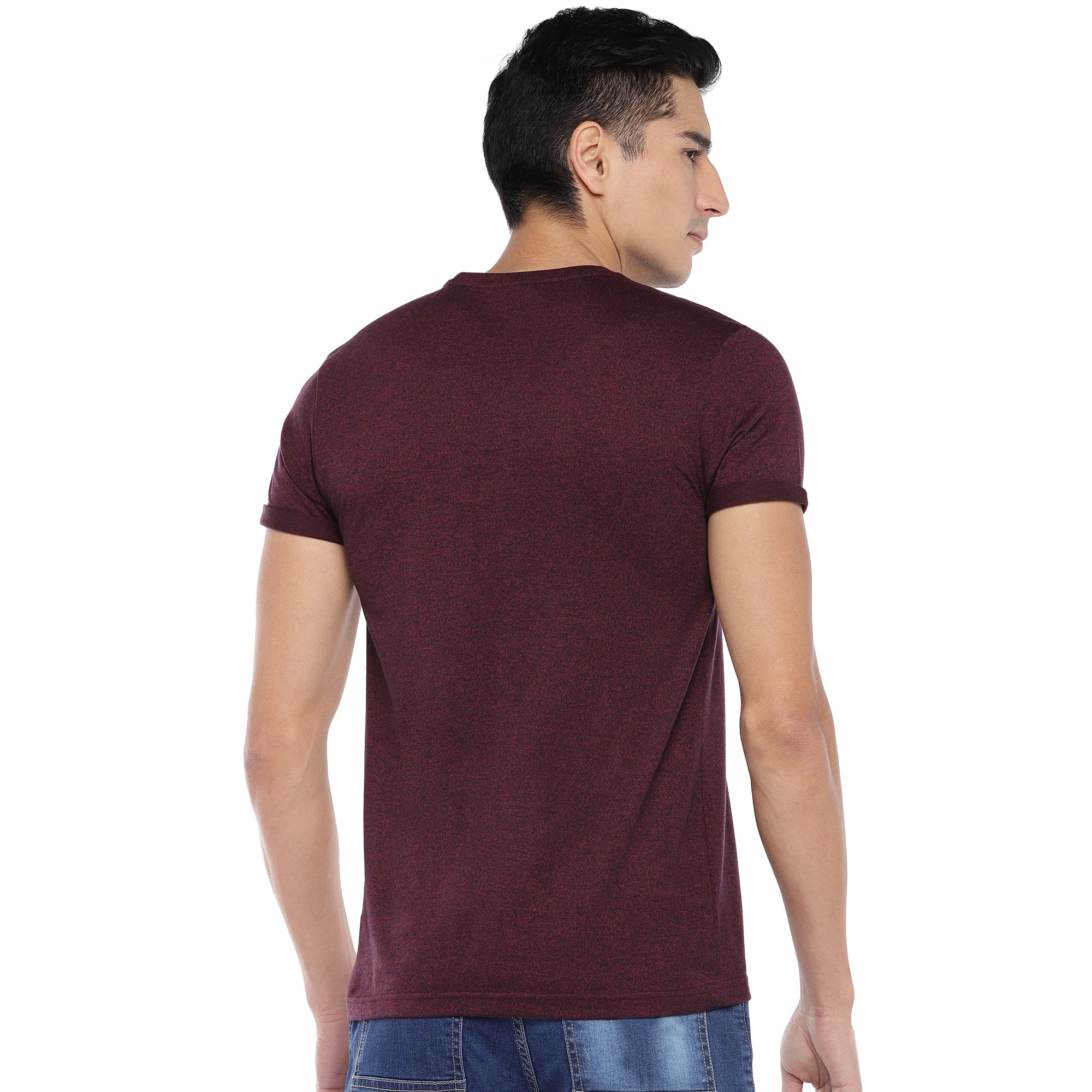 Red Solid T-Shirt-3